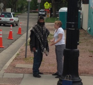 Connie witnessing in Old Colorado City