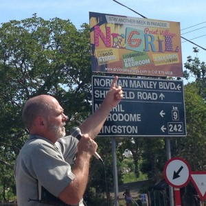 Preaching in Negril Jamaica